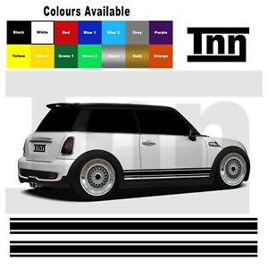Side Stripe Stickers Graphics Vinyl Decals For Mini Cooper S One Clubman