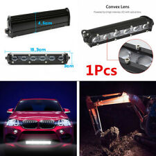 "6D Single Row 8""inch 60W CREE LED Work Light Bar Off-Road SUV Spot Beam Fog Lamp"