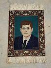 Presidential Portrait JFK 1960s John F. Kennedy Rug Oriental Carpet 1.5 x 1.9 ft