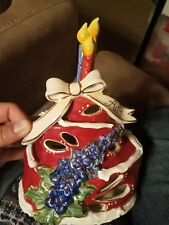 2011 Blue Sky Clayworks July Birthday Cake Tealight Holder