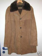 Herren Lederjacke Monsanto ICE Coat Leder-Mantel herausnehmb.Pelz XL 54 braun