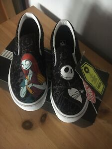 Vans Kids Nightmare Before Christmas Slip on Jack & Sally New in Box Size 2