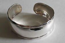 Sterling Silver Cuff Bracelet Scalloped Edge