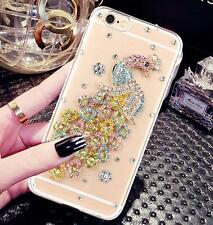 3D Bling Clear Crystal Diamonds Soft TPU back Ultra-thin Phone Case Cover Skind