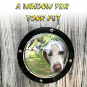 Dog Fence Window - 11.25IN Acrylic Dome Clear Dome Pet Window, 1pk