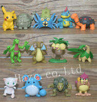 13pcs/Set Pokemon Pikachu Exeggutor Mew PVC Mini Figure Model Statue 3-5cm
