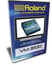 Roland VM-3100 / Pro DVD Training Tutorial Manual Help
