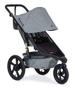 BOB Alterrain Jogging Stroller Swivel Front Wheel Baby Jogger Melange Gray