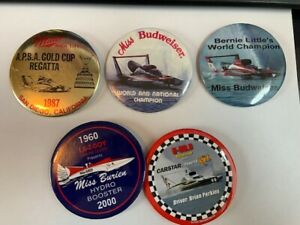 #10 LOT  SEATTLE SEAFAIR HYDROPLANE PINS,  HYDRO RACE BUTTONS