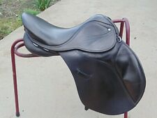 GP saddle 17.5'' wide fit 9'' D-D, English leather , Gattcombe event