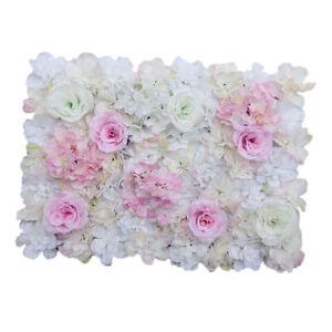 Artificial Fake Rose Silk Flower DIY Wall Floral Decor Wedding Party Backdrop