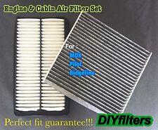 Engine & Carbonized Cabin Air Filter For New Acura MDX Honda Pilot Ridgeline
