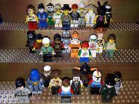 30 Lego City Figuren mit Kopfbedeckung. Minifig, Town, Polizei, Arbeiter, C2
