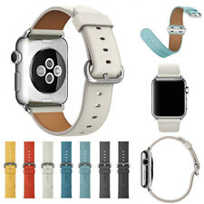 for Apple Watch iWatch Series 1 2 3 4 5 38/40/42/44mm Leather Sport Strap Band