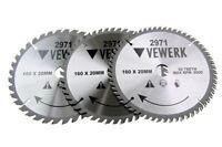 Vewerk 3 Pack - 160 X 20 / 16MM TCT Circular Saw Blade 36T 48T 60T 2971
