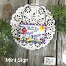 Popi * Mini Sign Wood Ornament Family DecoWords Year Round Decor USA New in Pkg