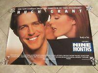 NINE MONTHS movie poster HUGH GRANT, JULIANNE MOORE original UK Quad