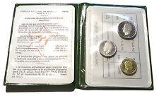 1975 moneda de España espécimen Uncirculated Set 3 monedas Carlos I