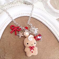 Braccialetto Bracciale Omino Biscotto Natale ~ Cute Bijoux Fimo Polymer Clay Bow