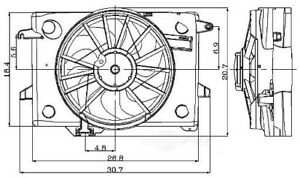 Engine Cooling Fan Assembly Global 2811484