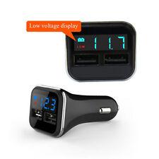 Los puertos dobles 4.8A USB cargador de coche cigarrillo encendedor 12V/24V digital LED voltímetro