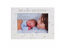 """Bambino Me and My Brother Teddy Icon Photo Frame 6"""" x 4"""" Gift Boxed"""