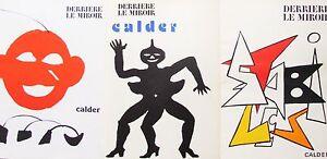 ALEXANDER CALDER - THREE (3) LITHOGRAPHS COVERS  DERRIERE LE MIROIR FREE SHIP US