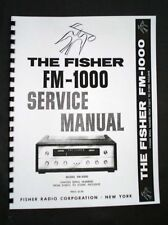 Fisher FM-1000 FM1000 Service Manual