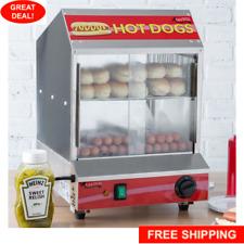 Commercial Machine Bun Food Electric Hot Dog Steamer Warmer 175 Dog 40 Bun New