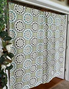 Target Threshold 100% Cotton Fabric Medallion Shower Curtain Geometric Floral