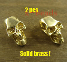 2pcs Skull shaped brass Lanyard Bead Paracord beads for Knife or EDC gear
