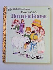Vintage Eloise Wilkin's MOTHER GOOSE Childrens Hardcover Little Golden Book 1978