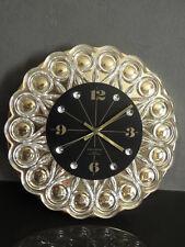 vintage WALL CLOCK Crystal JUNGHANS Sunburst Wall Pendulum old CRYSTALS