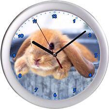 Kaninchen Hase Wanduhr Kinderwanduhr Kinderuhr Uhr Häschen