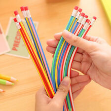 5pcs Stationery Flexible Bendy Pencil School Supplies Writing Tool With Eraser