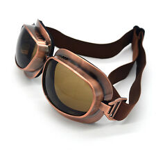 Steampunk Retro Vintage Aviator Pilot Motorcycle Goggles Eyewear Copper