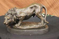 Hand Made bronze sculpture Animal African Lion Wild Home Decoration Figurine Art