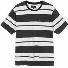 Stussy Benjamin Stripe Striped Crew T Shirt ( Size M ) Asap Rocky guess blk/wht