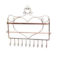 Schmuck Wandhalter Ständer Kupfer Metall Halskette Ohrringe Armband