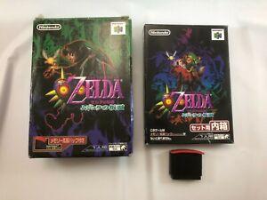 The Legend of Zelda Majora's Mask /w Expansion Pack; Nintendo 64; Japan Import