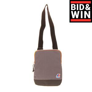 K-WAY Crossbody Shoulder Bag Logo Detail Padded Back Adjustable Strap Zipped