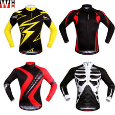 Men Long Sleeve Cycling Jersey Downhill Running Shirt Riding Clothes Breathable