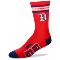 Boston Red Sox For Bare Feet MLB 4 Stripe Deuce Crew Socks SZ Med