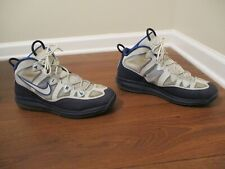 Used Worn Size 12 Nike Air Max Uptempo Fuse 360 Shoes Blue & Pure Platinum