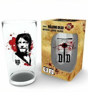 The Walking Dead Daryl 500ml Glass In Gift Box, Xmas gift, Present.