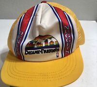 Vintage Denver Nuggets California Headwear Snap Back yellow Hat