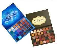 2 Beauty Creations Elsa & Olivia 35 Color Eye Shadow Palette blue green naturals