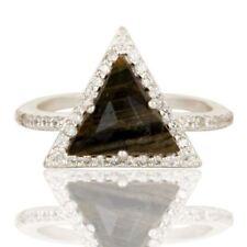 Zebra Jasper Gemstone 925 Silver Wedding Engagement Designer Ring Jewelry