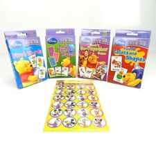 4 Disney Learning Flash Cards Sets Age 3+, 36 Cards/Pk, + Free Disney Stickers