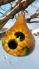 Hand Painted Large Sunflowers Gourd Birdhouse - Amish Crafted, Lancaster Cnty PA